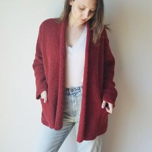 Eileen Fisher Wool Cashmere Chunky Cardigan - L